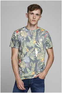 Papegaai t-shirt van Jack & Jones