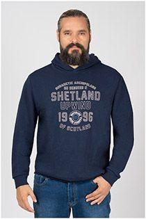 Kitaro hoodie met borstprint