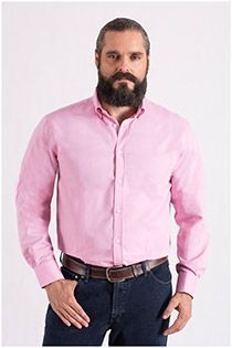 Plus Man uni lengtematen overhemd