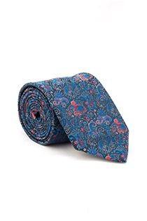 Gedessineerde extra lange stropdas van Plusman