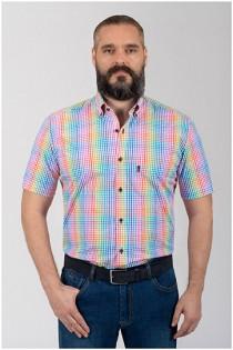 Korte mouw ruiten overhemd van Plusman
