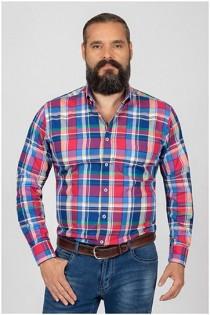 Lange mouw ruiten overhemd van Plusman