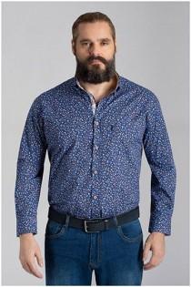 Bedrukt lange mouw overhemd van Plusman