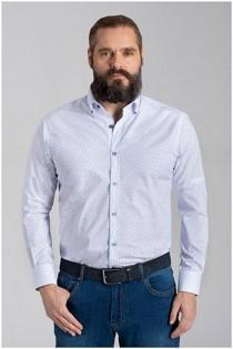 Extra lang overhemd van Plusman met allover print