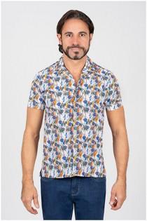 Bedrukt korte mouw overhemd van Plusman