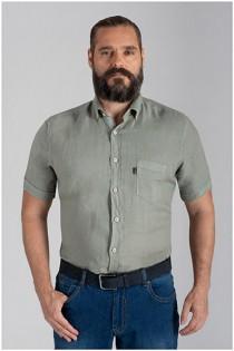 100% Linnen overhemd korte mouw Plusman