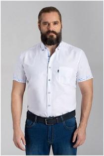 Korte mouw uni overhemd van Plusman