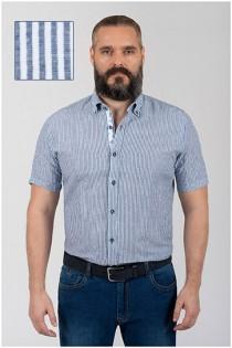 Gestreept linnen overhemd van Plusman