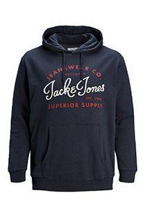 Jack & Jones hoodie met borstprint