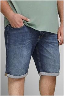Elastische 5-pocket jeansbermuda van Jack & Jones