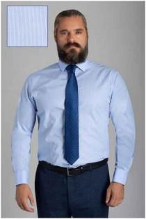 Gestreept dressoverhemd van Plusman