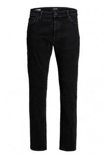 5-pocket elastische black denim broek van Jack & Jones