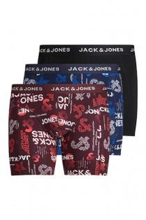 3-Pack elastische Boxershorts van Jack & Jones