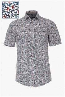 Korte mouw all-over bedrukt overhemd van Casamoda