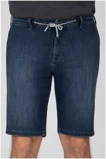 Zeer elastische Jeansbermuda van Pionier