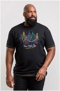 Korte mouw t-shirt NYC van D555