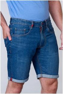 Elastische jeansshorts van D555.
