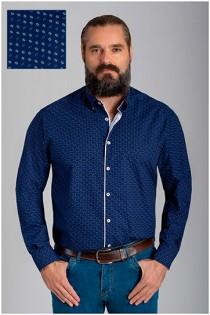 Allover overhemd van Plusman