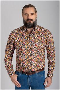 Lange mouw overhemd van Haupt met allover print