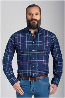 Ruiten lange mouw overhemd van Plusman