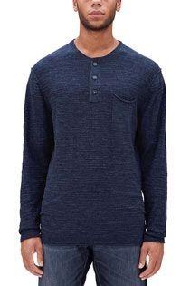 s.Oliver T-shirt lange mouw met serafinokraag