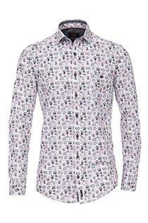 Lange mouw all-over print overhemd Casamoda SPECIAL OFFER