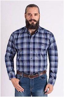 Lange mouw ruiten overhemd van Casamoda