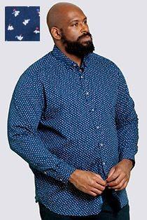 Bedrukt lange mouw overhemd van D555