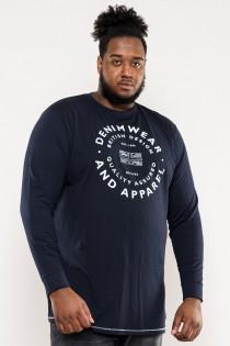 Extra lang t-shirt met lange mouwen van D555