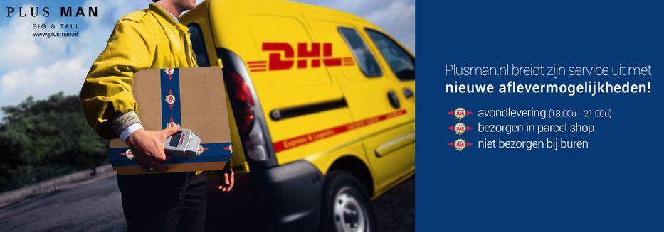 DHL Parcelshop, Avondlevering bij Plusman.nl