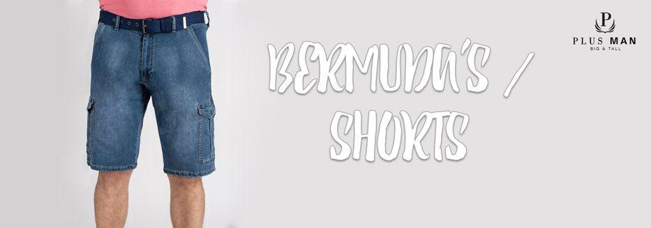 Grote maten bermuda's en shorts