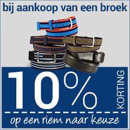 10% korting op een riem bij een broek