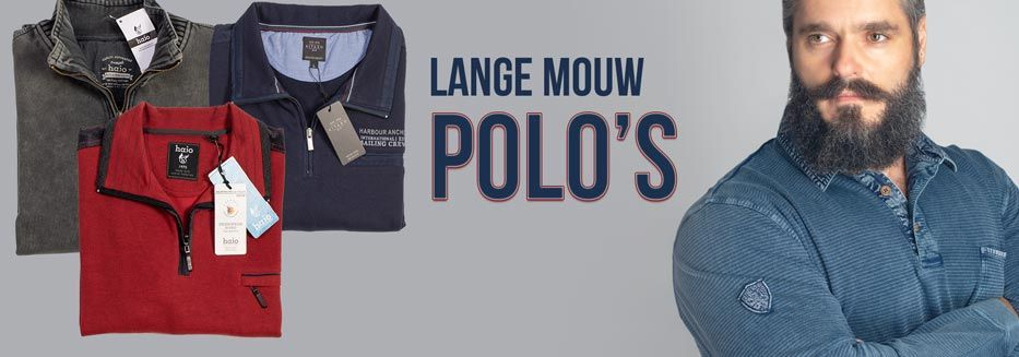 Grote maten polo's lange mouw