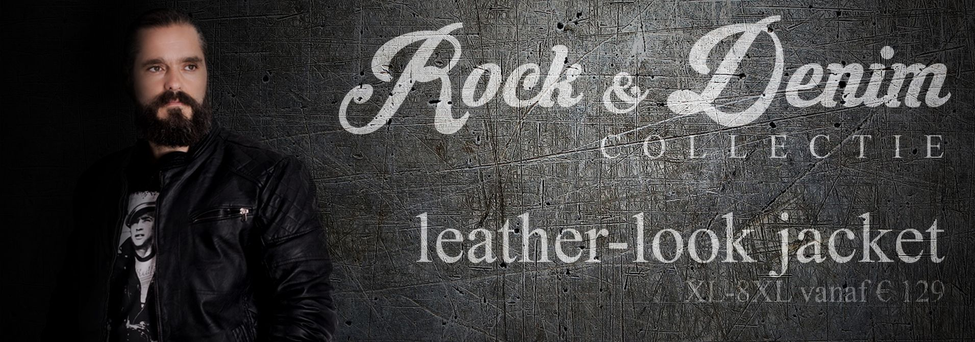 Leather look jas in grote maten