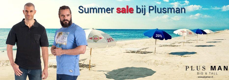 Grote kortingen tijdens de Plus Man Summer Sale