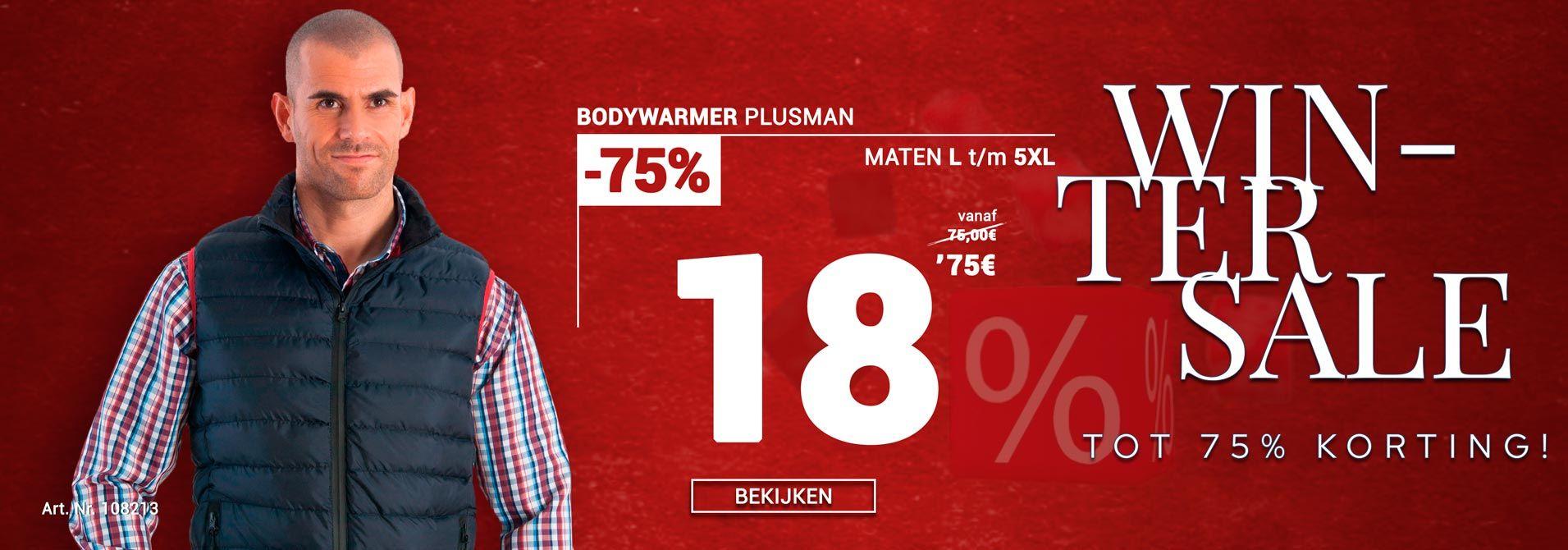 Bodywarmer van Plusman