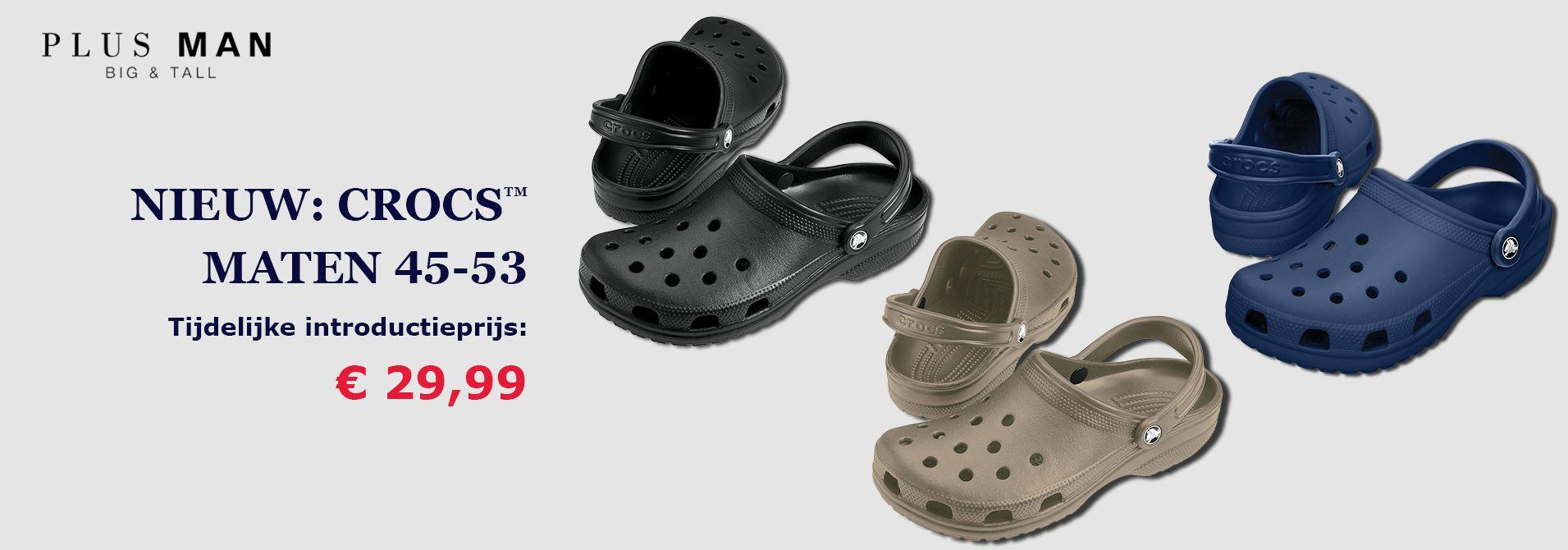 Grote maten Crocs Classic