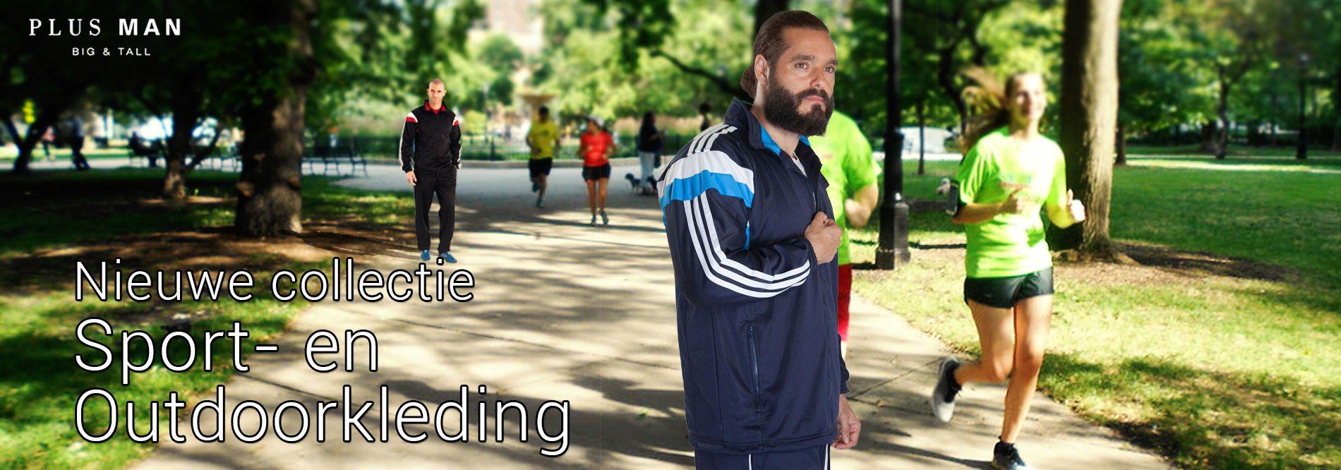 Grote maten sportkleding en outdoorkleding