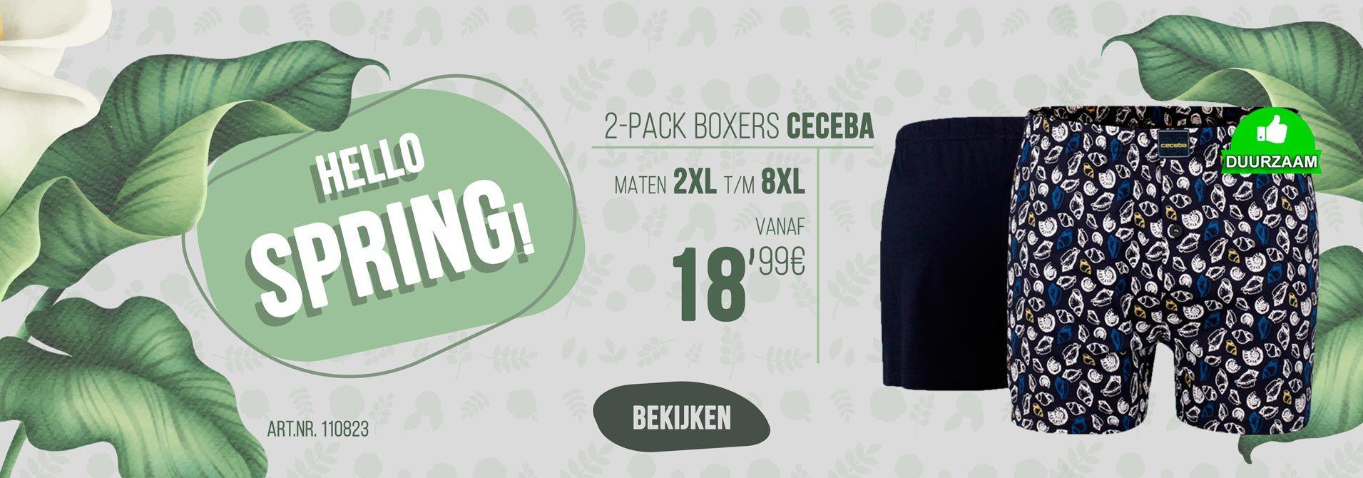 2-pack boxershorts van Ceceba