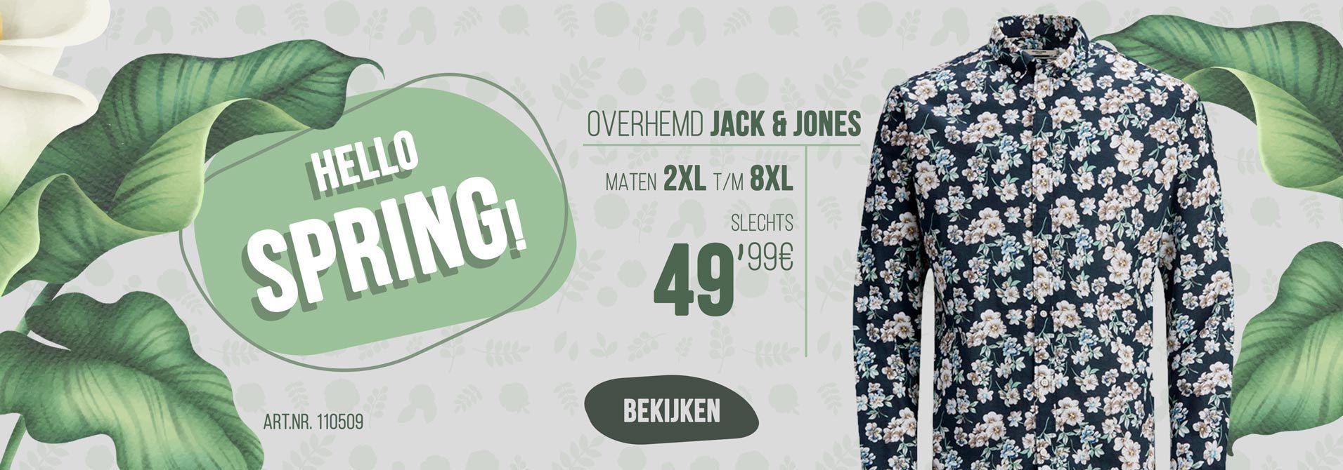 Bedrukt overhemd van Jack & Jones.