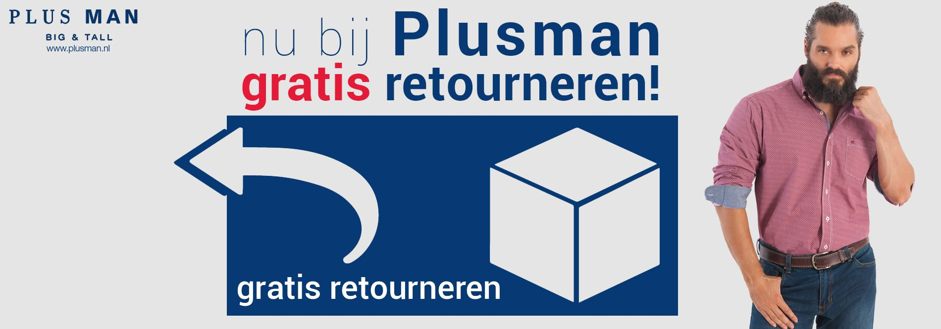 Gratis retouren bij Plusman.nl