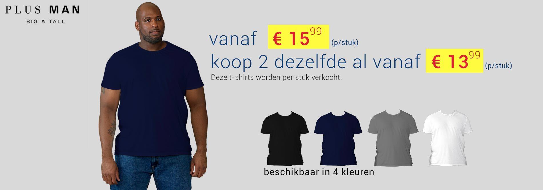 Grote maten t-shirt van D555