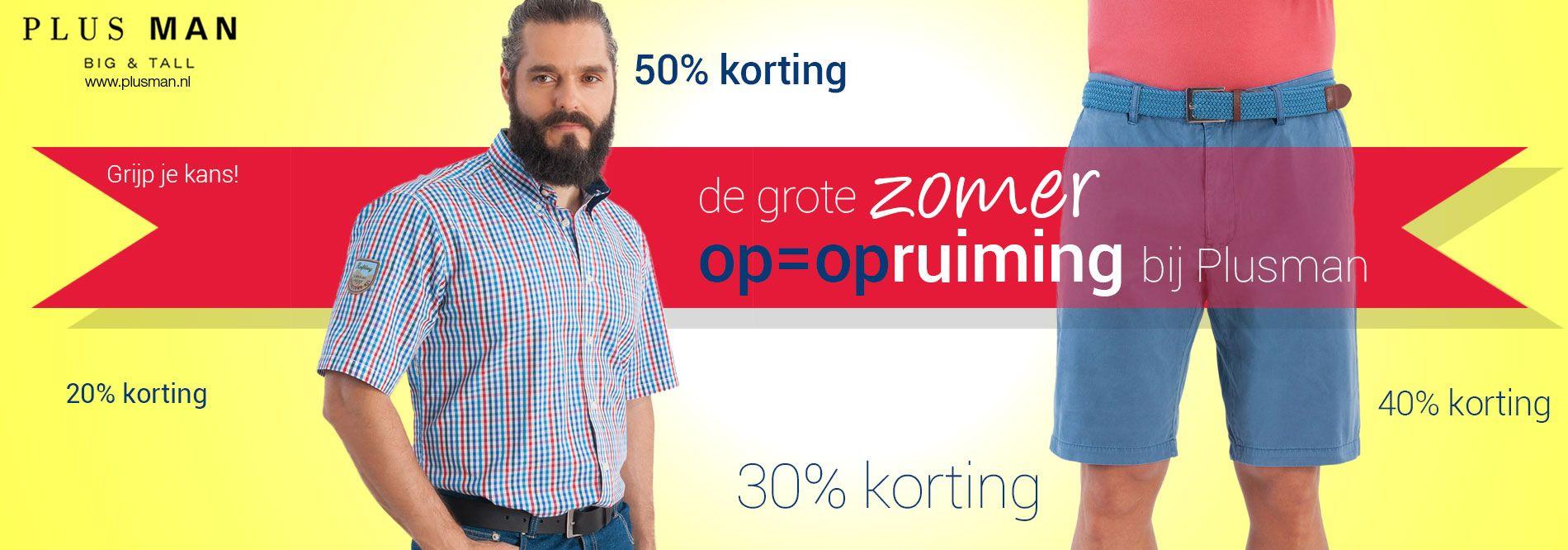 Sale bij plusman.nl, tot 50% korting