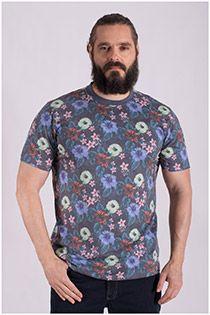 T-shirt met bloemetjesmotief
