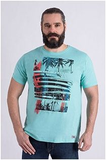 T-shirt in fris groen