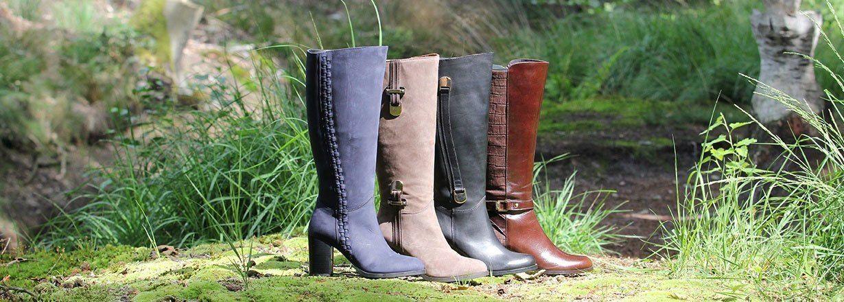 Dameslaarzen met brede schacht van Jilsen
