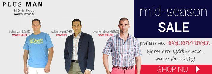 Grote kortingen bij Plusman.nl tijdens de mid-season sales!