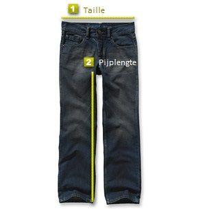 Maattabel voor broeken
