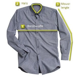 Bereken uw overhemd maat