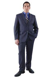 Gestreept kostuum polyester / viscose 105523